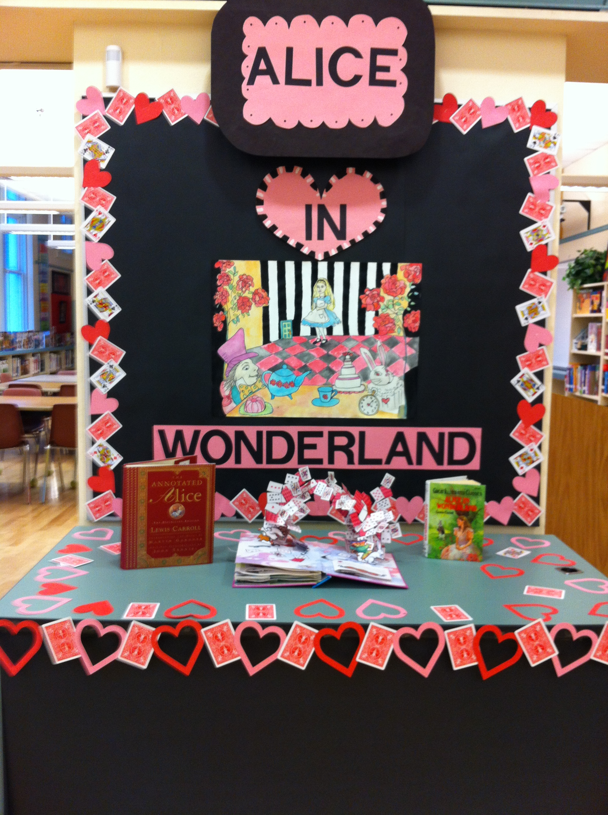 Welcome to the library decorating ideas to make kids Alice and wonderland art projects